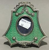 An enamel frame
