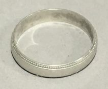 A platinum wedding band