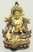 A small bronze Tibetan Buddha