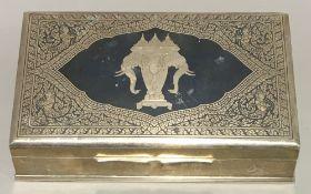 A Thai sterling silver cigarette box