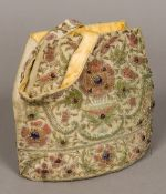 A bead and metal thread decorated handbag