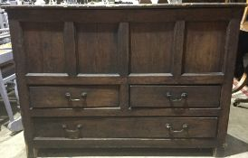 A Victorian pine mule chest