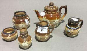 A quantity of small Doulton stoneware,
