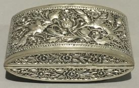 A Chinese pierced silver box