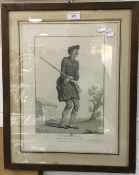 A vintage French print, Mr Dosainville,