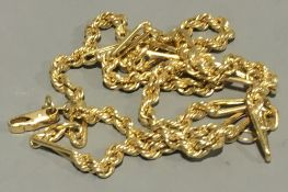 An 18 ct gold chain