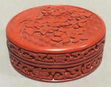 A cinnabar lacquer box