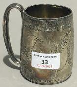 A Victorian silver Christening mug (170 grammes)