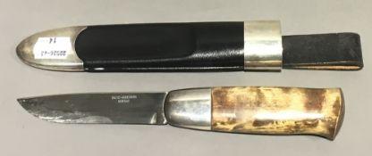 A David Andersen Norwegian silver mounted Viking knife,