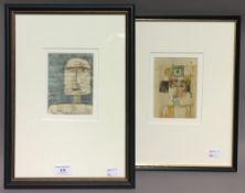 Two PAUL KLEE prints,