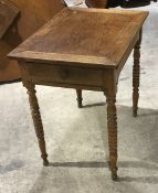 A 19th century French oak side table
