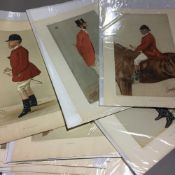A collection of original Vanity Fair prints (1869-1914) depicting foxhunters (16)