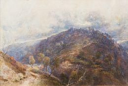 JOSEPH HASLAM HAWKSWORTH (1827-1908), British Moorland Landscape, Watercolour, signed,