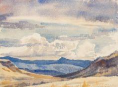 ROWENA BUSH (1917-1998) South African, Rift Valley, Watercolour,