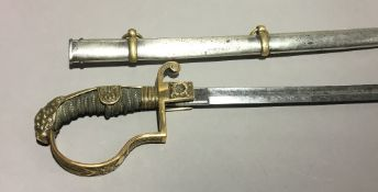 A 19th century German officers' sword