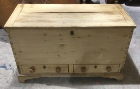 A 19th century pine mule chest