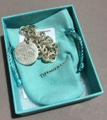 A silver Tiffany hallmarked bracelet,