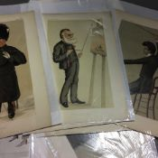A collection of original Vanity Fair prints (1869-1914) depicting ''Men of the Arts'' (19)