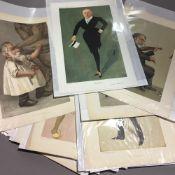 A collection of original Vanity Fair prints (1869-1914) depicting ''Men of the Arts'' (16)