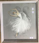 Ballerina, pastel, Prelude Les Sylphides J H Clare,
