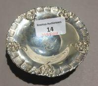 A small silver dish