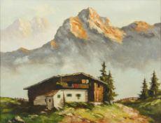 OSWALD ARNDT (born 1917) Austrian (AR), Tuxer Alps, Austria, Oil on canvas, signed,