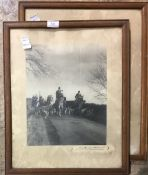 A pair of vintage hunting photographs
