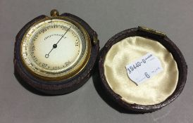 A Victorian cased pocket barometer
