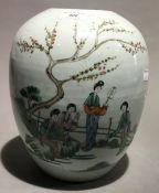 A 19th century Chinese vase