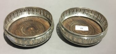 A pair of silver bottle coasters, London 1972, Courtman Silver Ltd.