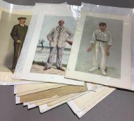 A collection of original Vanity Fair prints (1869-1914) depicting sportsmen (16)
