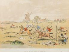 HABLOT KNIGHT BROWNE (1815-1882) British, Twelve Humorous Hunting Prints, Lithographs,