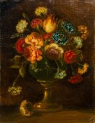 CONTINENTAL SCHOOL (18th/19th century), Still Life of Flowers in a Vase, Oil on canvas,