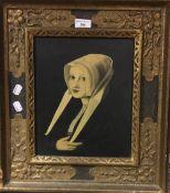 Portrait of a lady, oil,