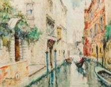 LINO MUZZIN (20th century) Italian, Venice, Oil on canvas, signed,