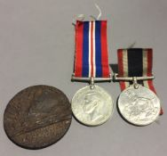 Two WWII service medals,