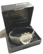 A 1980s Accurist chronograph wristwatch