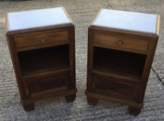 A pair of Art Deco bedside cupboards