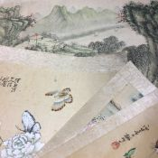 Five Chinese watercolours