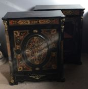 Two boulle type cabinets