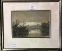 Riverscape, watercolour,