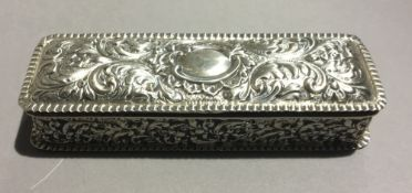 A silver dressing table box