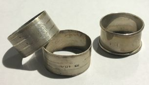 Three silver napkin rings