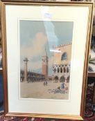 Venetian watercolour, Doges Palace,