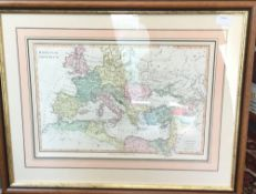 After WILKINSON, Romanian Imperium map, published 1818,