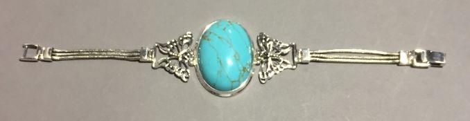 A silver dress bracelet
