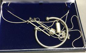 Silver necklaces, etc.