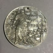 A silver Chinese coin