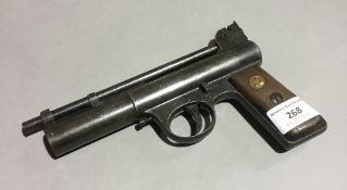 A Webley Mark 1 air pistol