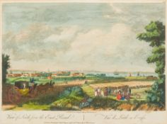 PAUL SANDBY (1731-1809) British, View of Leith From the East Road, Hand coloured engraving,